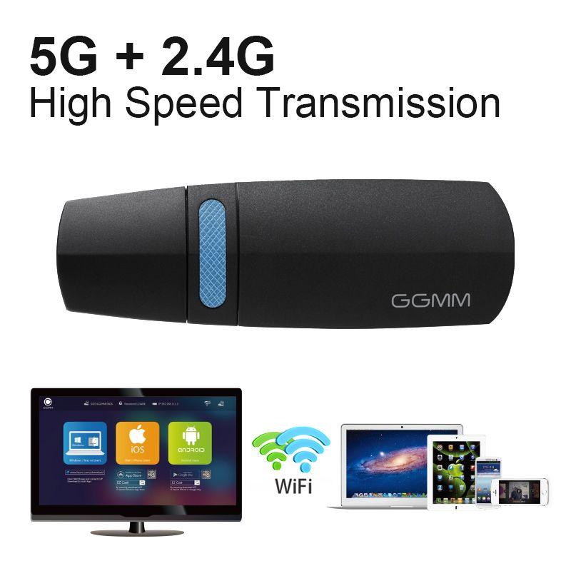 GGMM Drahtlose Wifi Dongle TV-Stick HDMI Drahtlosen Miracast adapter TV Box mini TV Unterstützung Miracast AirPlay Ezcast DLNA 5G netzwerk