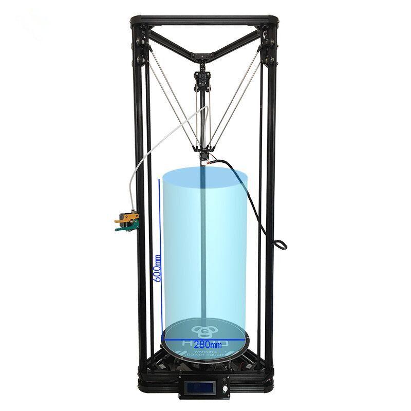 High precision HE3D K280 large size 280mm*600mm delta Auto- leveling single extruder DLT-K280 3D printer DIY kit with heatbed