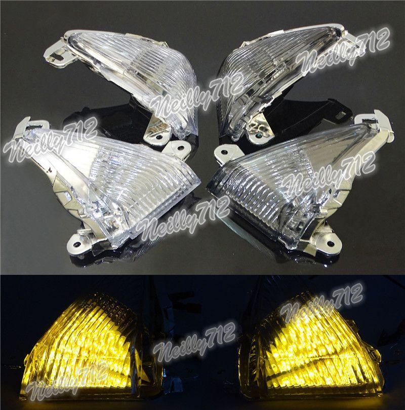 waase EMARK Motorcycle Front Turn Signals Blinker LED Light For Kawasaki Ninja 650R 2006 2007 2008