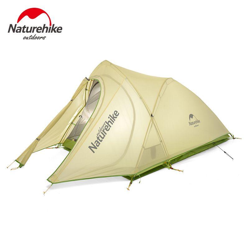 PUNKT BRECHEN 2017 Neue NH 2 Personen Zelt 20D Silikon Stoff Doppelschichten Regendichte Outdoor Ultralight Camping Wandern Zelt