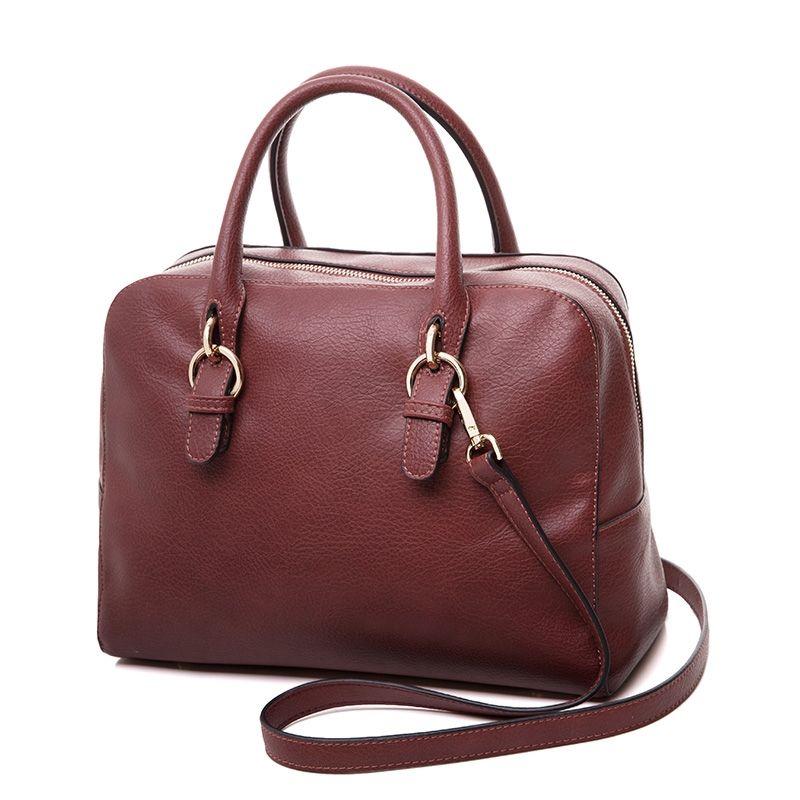 AMELIE GALANTI Stilvolle Frauen Handtasche Fashion Solid Weiche PU Leder Frauen Umhängetaschen Schulranzen mit Zipper Taschen Frauen Taschen