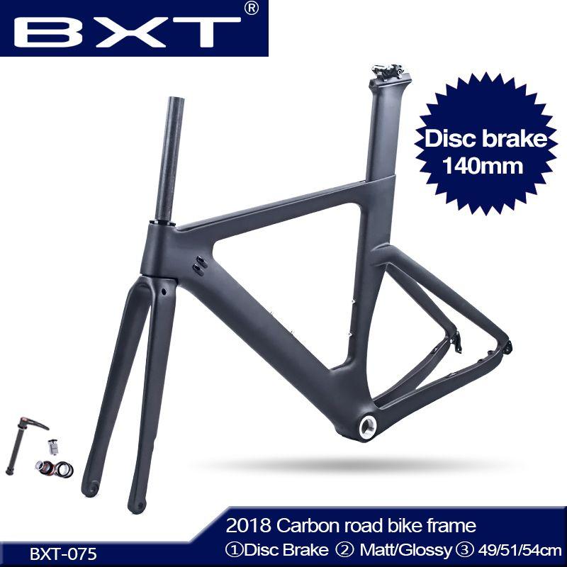 BXT Neue Carbon Scheiben Bremsen Rennrad Rahmen Di2 Carbon Fibre Road BSA Rahmen geeignet 700C * 28C/30C carbon Disc 140mm freies verschiffen