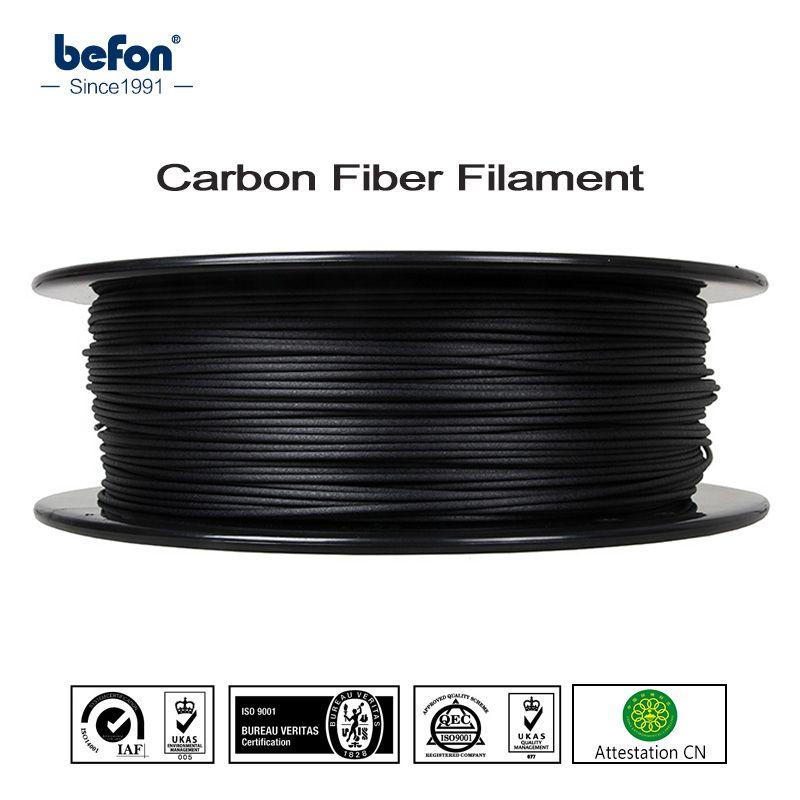 Strong PLA Carbon Fiber Filament 3D Printer Filament 1.75mm 0.5kg 1kg 3D Printing Material for MakerBot RepRap Ultimaker Printer