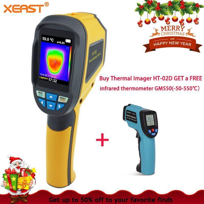 Blitz Lieferung XL AUF LAGER HT02D Professionelle Handheld Thermische Imaging Kamera Tragbare Infrarot Imaging Gerät HT-02D