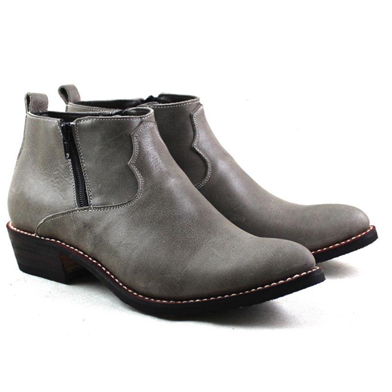 Spitzen Western Cowboy Stiefel Männer Rindsleder Echtes Leder Arbeit Stiefel Männlich Reiten Motorrad Botas Hombre zapatos de hombre, 38-45