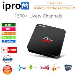 Smart Androd tv box avec 2200 + IPROTV Français Arabe IPTV abonnement D'un An Europe Arabe iptv livraison sport smart tv kodi
