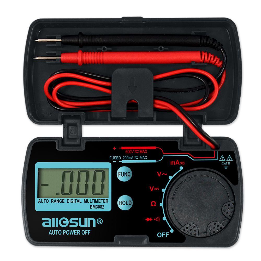 all-sun EM3082 Mini gamme automatique multimètre numérique testeur AC DC ampèremètre voltmètre Ohm Portable mètre de poche compteur de tension