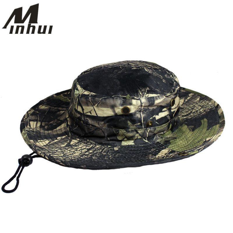 Minhui унисекс ведро шляпы джунгли военный камуфляж Боб Boonie Hat Bape рыбак шляпа кемпинг рыбалка шапки для MenWomen