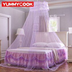 Elegant Hung Dome Mosquito Nets For Summer Polyester Mesh Fabric Home Textile Wholesale Bulk Accessories Supplies Products