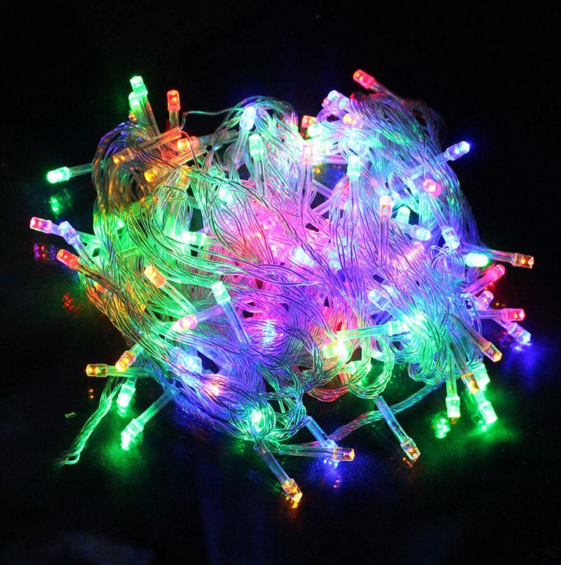 Imperméable à l'eau 10M 100 LED 220V maison en plein air vacances noël décoratif chaîne de mariage éclairage guirlande bande Festival fête