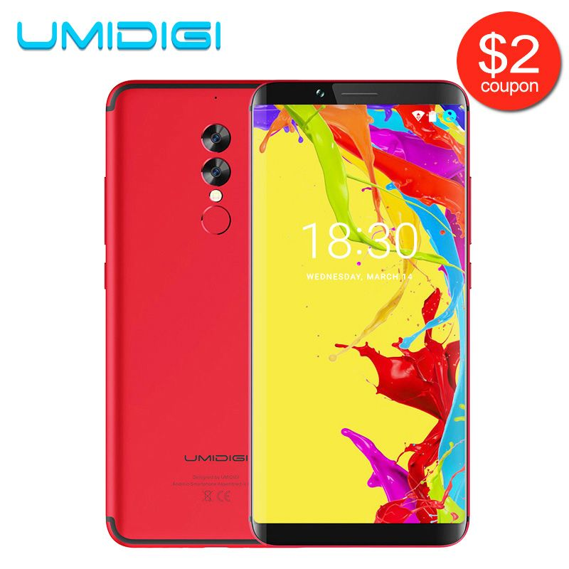 UMIDIGI S2 Lite 18:9 Full Screen Smartphone Face ID 32GB ROM 16MP+5MP Camera 5100Mah Dual SIM Android 7.0 4G LTE Mobile Phone