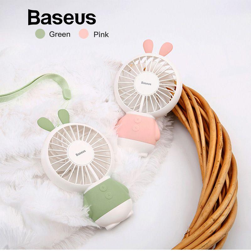 Baseus LED USB Fan 2-Geschwindigkeit Einstellbar Tragbare Mini Fan Hand Fans 800 mah Wiederaufladbare Ultra-ruhigen Mikro USB Schreibtisch Luftkühlung Fan