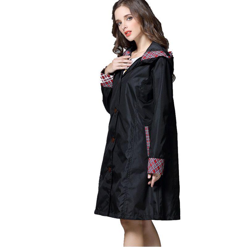 Genou Long imperméable femmes, imperméable pluie manteau Ponchos vestes femme capa de chuva Chubasqueros imperméables Mujer