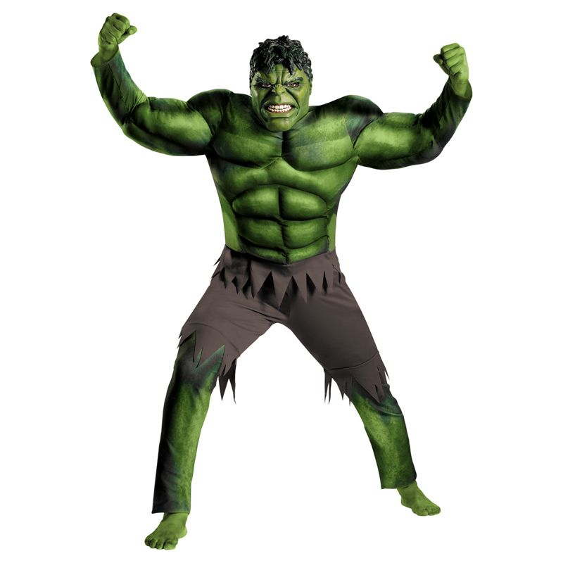 En vente adulte hommes Muscle Hulk Halloween Costume Marvel Avengers super-héros fantaisie film déguisement Cosplay vêtements