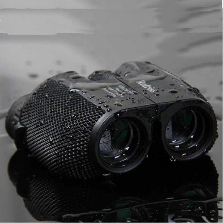 Free shipping 10X25 HD All-optical green film waterproof binoculars <font><b>telescope</b></font> with Bak4 Prism for travel binoculars drop selling
