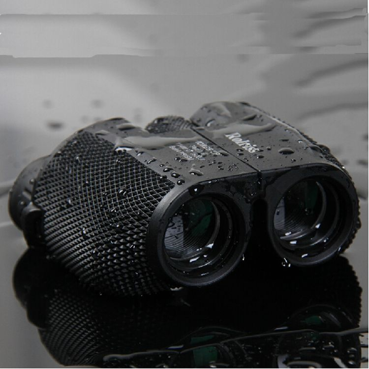 Free shipping 10X25 HD All-optical green film waterproof binoculars telescope with Bak4 Prism for travel binoculars drop selling