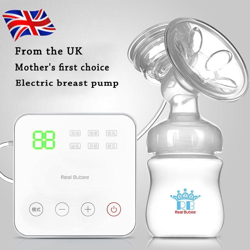 2015 Madres de Leche de Succión del Pezón P. p. Extractor de leche eléctrico Automático Bebé la Lactancia materna de la Bomba de Vacío Con Masaje envío Gratis