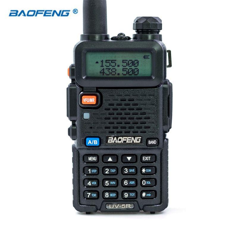 Baofeng UV-5R VHF UHF FM Dual Band VOX Walkie Talkie HAM CB Radio Portable Transceiver 136-174/400-520MHz 5W UV5R Hunting Radios