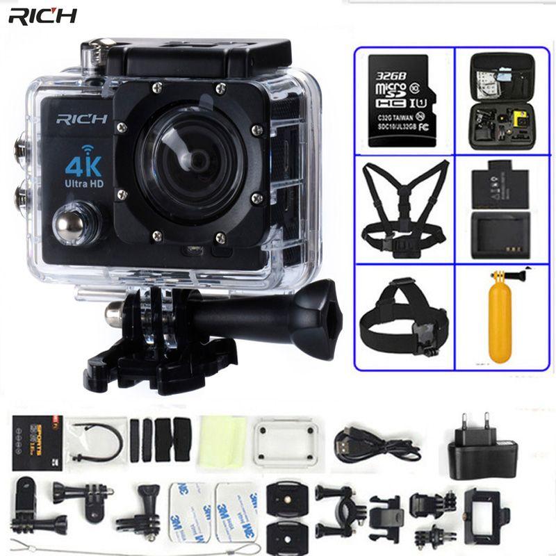 Action Caméra 4 K Ultra HD WIFI gopro hero 4 Stlye 1080 P/30fps 2.0 LCD 170 Lentille Plongée Étanche 30 M DV Casque Cam Sport caméra