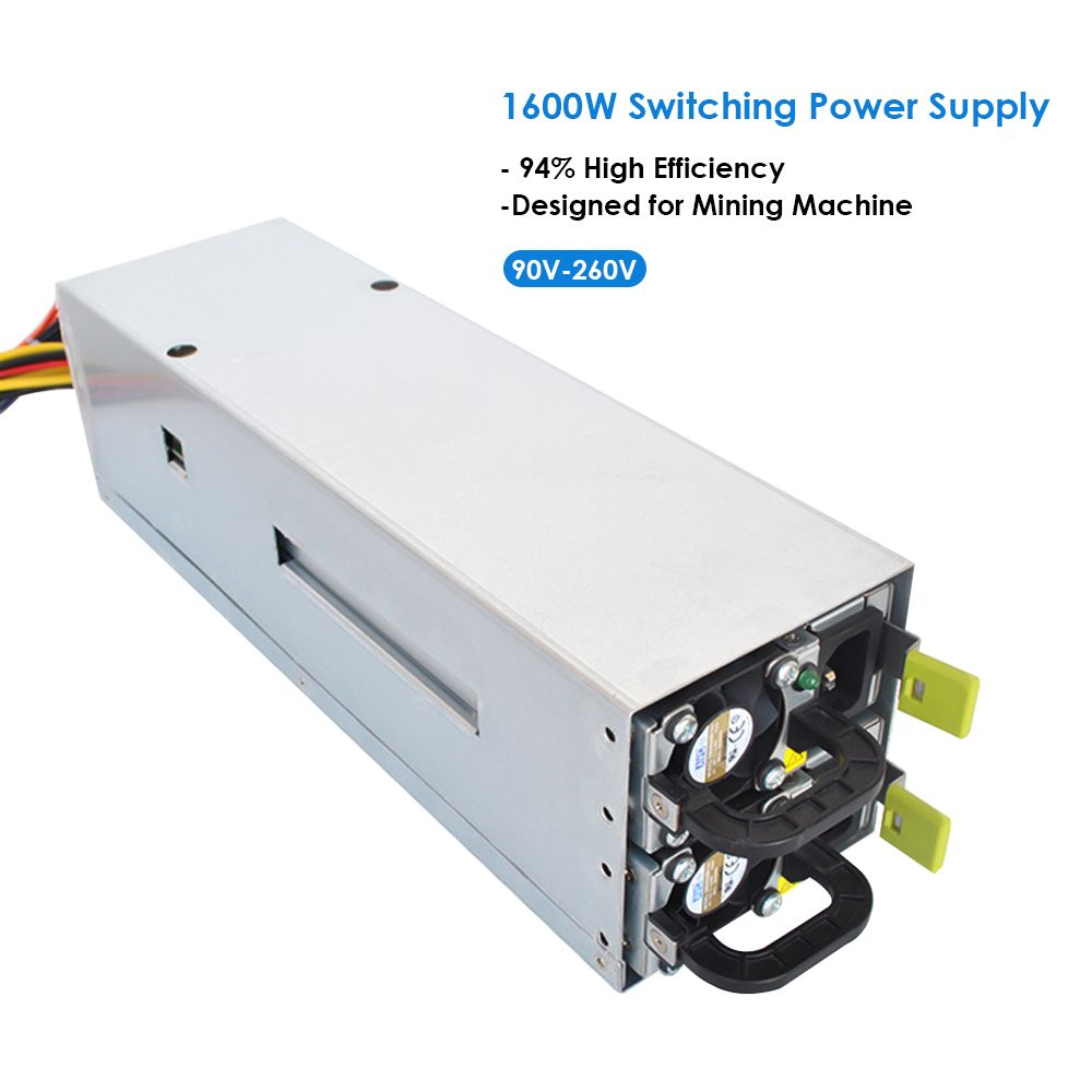 1600W Switching Power Supply 94% High Efficiency for asic antminer l3 Ethereum S9 S7 L3 Rig Mining Machine bitman bitcoin PC