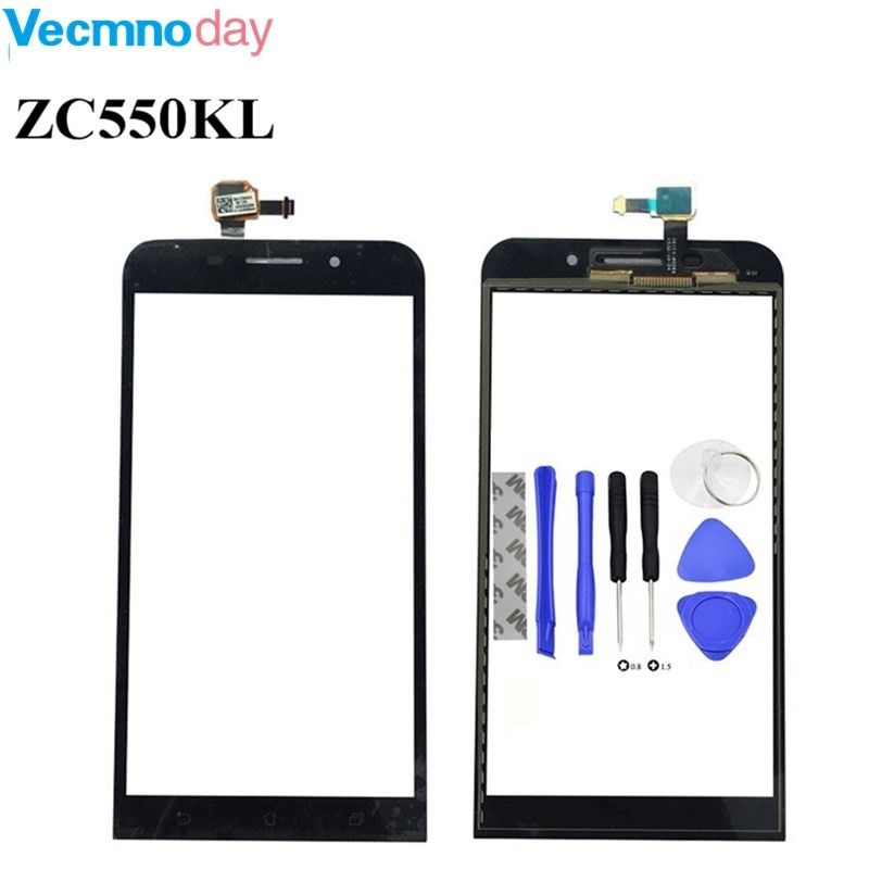 Vecmnoday For ASUS Zenfone Max ZC550KL 5.5 inch Digitizer Touch Screen Panel Sensor Lens Glass Replacement + Tools