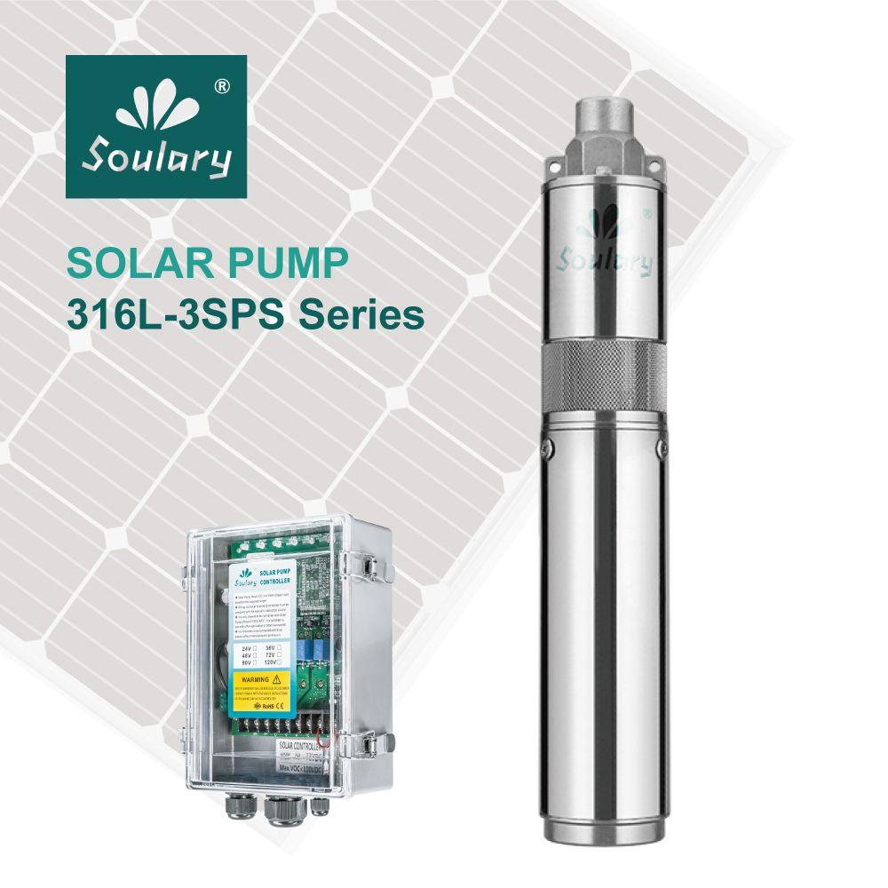 (Dhl-freies Verschiffen) SS316 Top-qualität 3' DC Tauchsolarpumpen für Bewässerung (2.3m3/hr-140m) (modell: 3SPS2. 3/140)