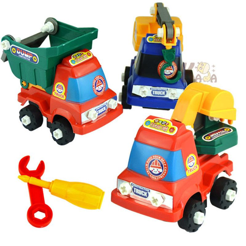 Children Simulation Engineering Vehicles Excavator Inertia Car Boys Toy Real Dump Truck Removable Kids Toys Birthday Gifts
