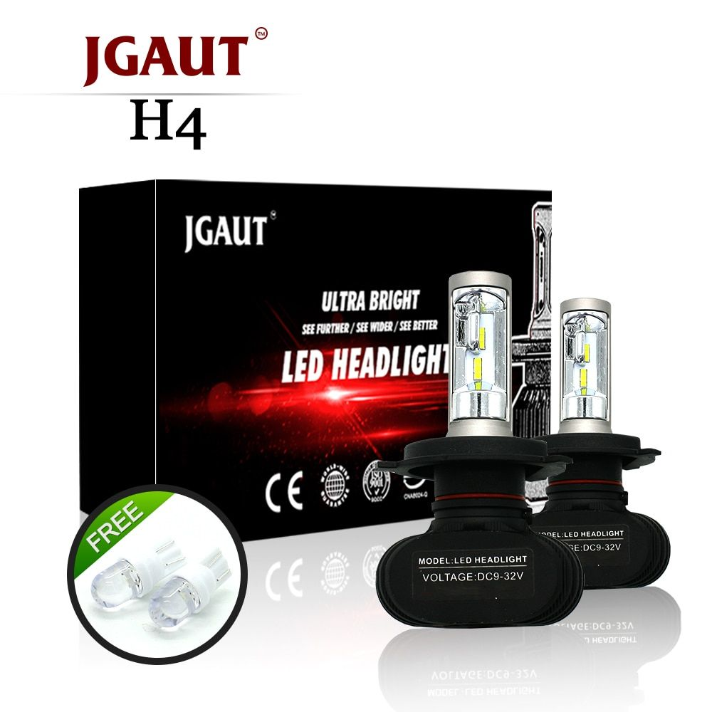 S1 Headlights H1/H3/H4/H7/H11/H13/9005/9006 9004 9007 9012 880 881 LED Car Headlight Bulb 50W 8000LM 6500K Auto Led Headlamp12v
