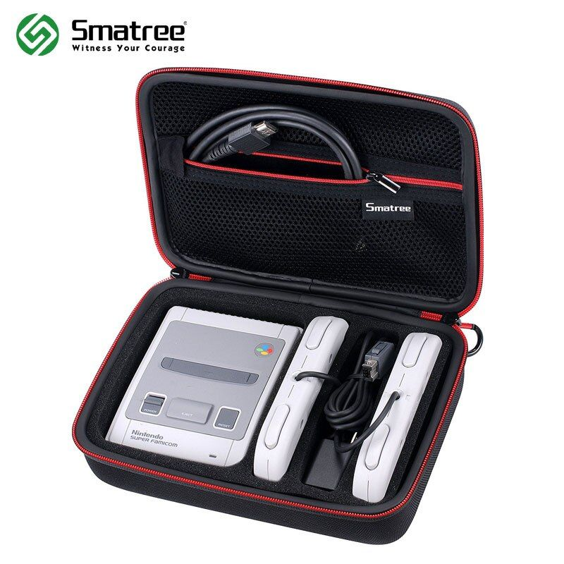 Smatree Carrying Case for Nintendo SNES Super NES Classic Mini(2017), Fits for 2 Controllers,Charger ans HDMI Cable