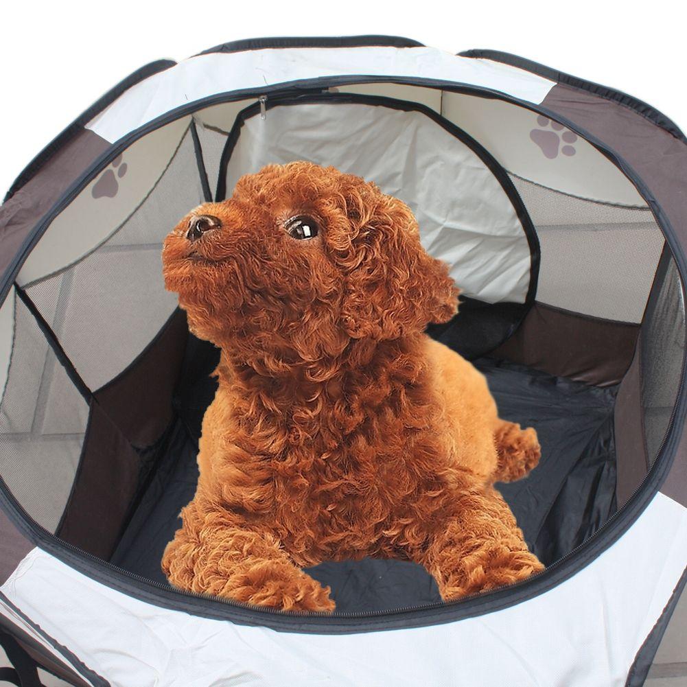 72x72x45 см Портативный складывая палатку ПЭТ Манеж Собака Забор щенка питомника в помещении или наружного игры упражнения легко Управление