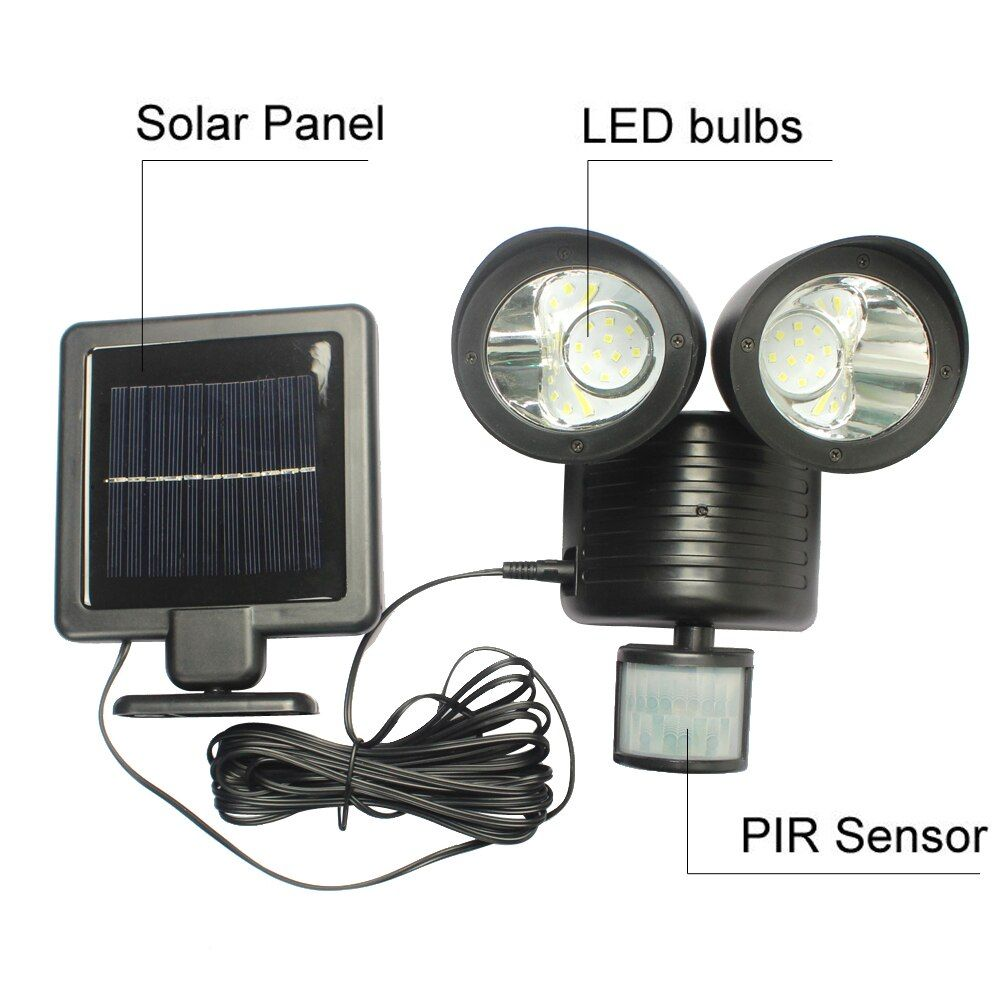 22 LED Solar <font><b>Lamp</b></font> Solar Light High Power Outdoor Waterproof Street Light PIR Motion Sensor Security Lighting Solar Wall <font><b>Lamps</b></font>