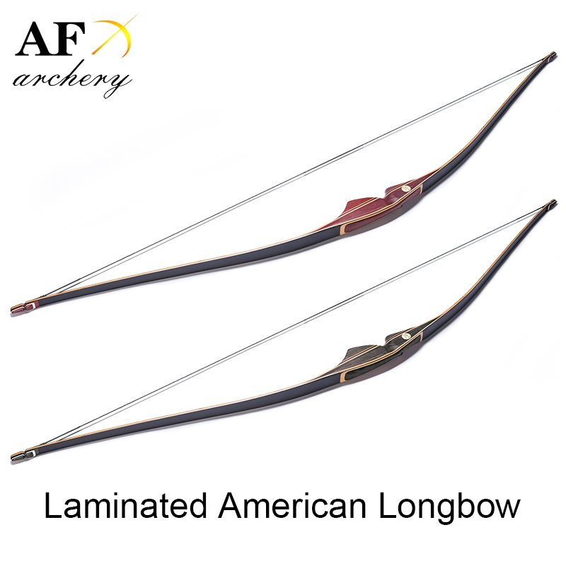 Archery Laminated American Long Bow Recurve Bow for Shooting and Hunting