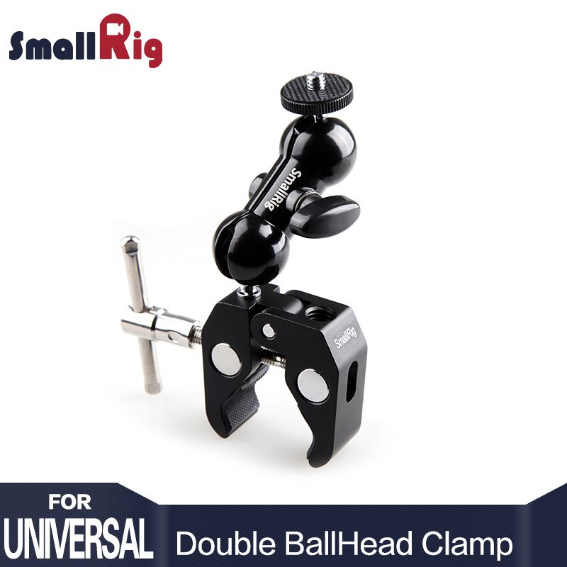 SmallRig Cool Ball Head Adapter Arm V4 Multi-function with Bottom Clamp For DJI Ronin Gimbal DSLR Camera LCD Monitor LED - 1138