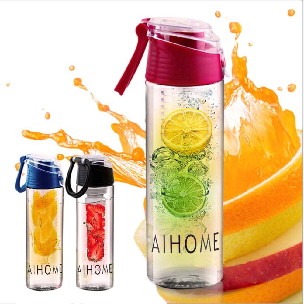 Aihome 800 мл Велоспорт Спорт Фрукты настаивая Infuser вода лимон Бутылочки сок Велосипедный Спорт Здоровья экологичный BPA Детокс флип крышкой