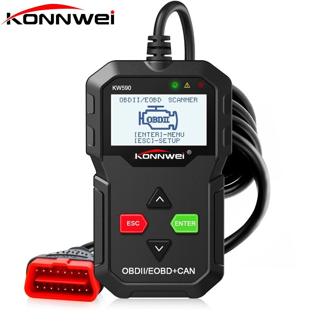 OBD2 Diagnostic Tool KONNWEI KW590 OBD ODB2 Car Diagnostic Tool in Russian Code Reader Auto Scanner Better than AD310 ELM327