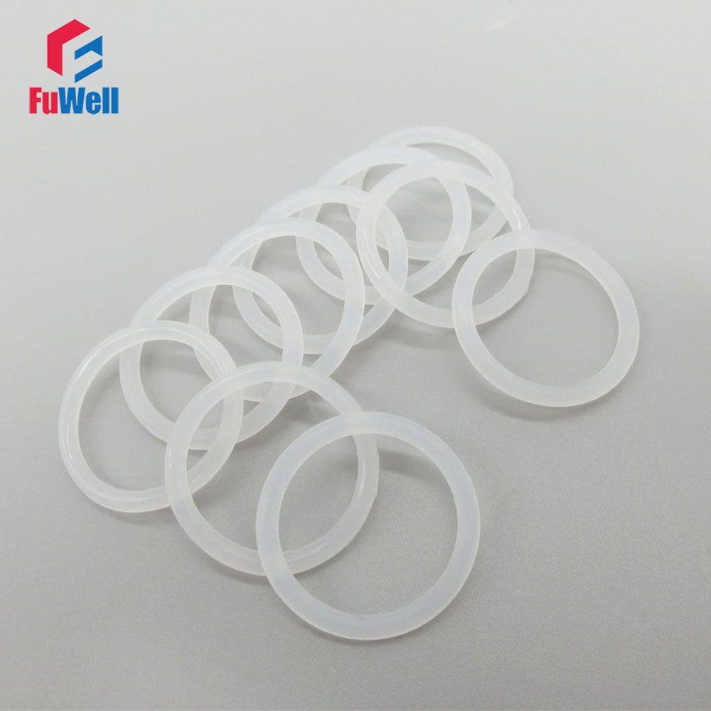 Blanc Silicon O-anneau joints 1.9mm Épaisseur de Qualité Alimentaire JOINT TORIQUE Joint 6/7/8/ 9/10/11/12/13/14/15/16mm OD Caoutchouc Bague D'étanchéité