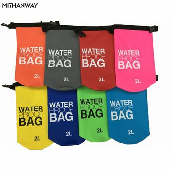 2L Mini Small Outdoor Waterproof Dry Bags Floating Fishing Rafting Hiking Swimming Upstream Phone Camera Wallet Storage Bag