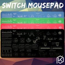 Teknik Keyboard Switch Mousepad Cherry 900 400 4 MM Non Dijahit Tepi Lembut/Karet Kualitas Tinggi