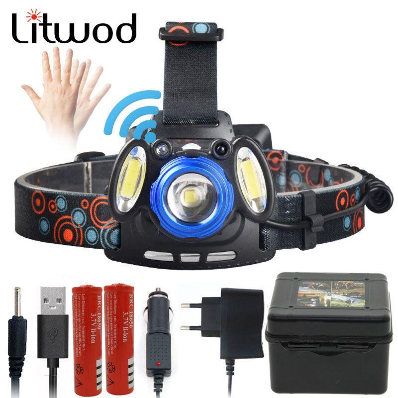 Litwod Z20 XM-L T6 COB LED Tête De Lampe-torche Puissant phare 6000 Lumen Par 18650 Batterie Pour La Chasse De Pêche équitation