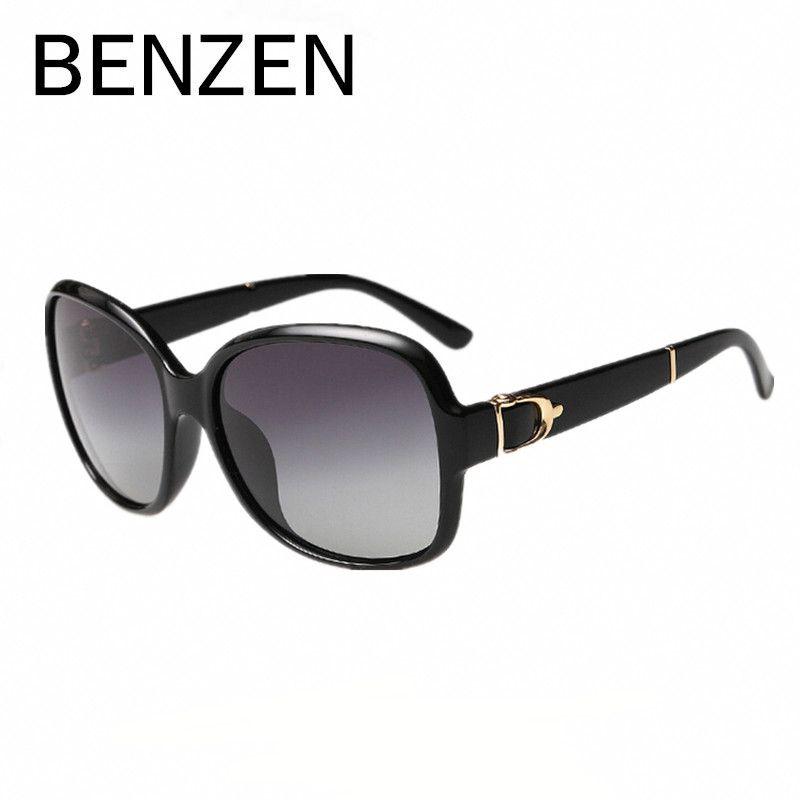 BENZEN Women Sunglasses Polarized Elegant Female Sun Glasses Black De Sol Feminino Gafas De Sol With Case 6060