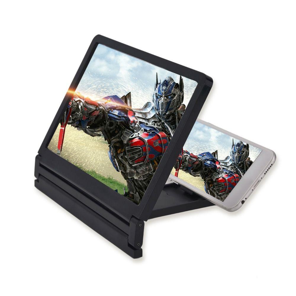 Tragbare Größe Klapp Lupe Glas Bildschirm HD Verstärker Ständer Smartphone Handy Screen Magnifier Bracket