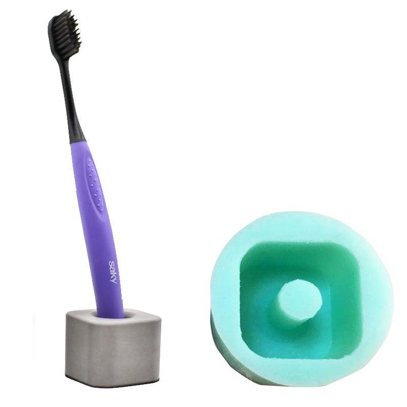 Silicone moule ciment porte-brosse à dents brosse à dents siège creux porte-stylo moules ciment vie fournitures moules