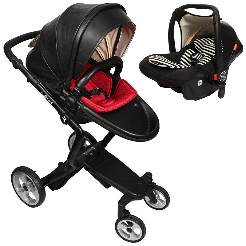 foofoo Luxury high landscape shock strollers can sit reclining stroller baby stroller two-way dual summer with car seet