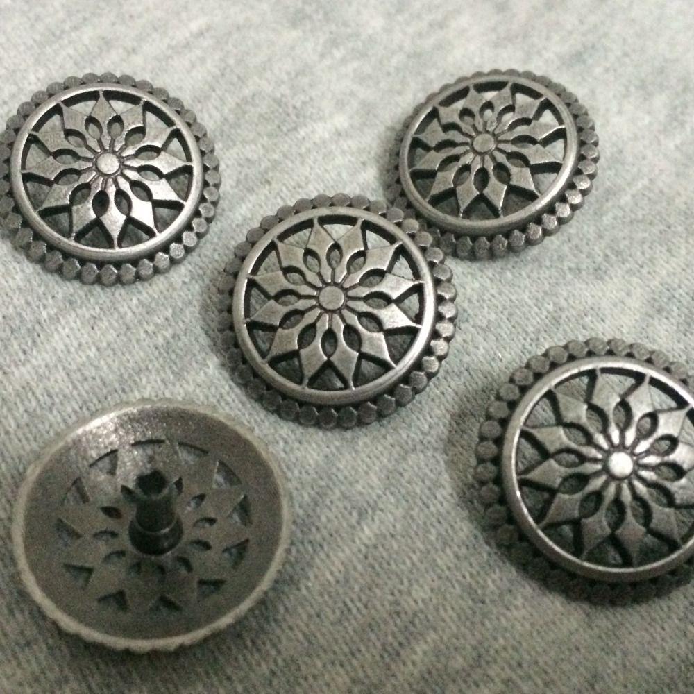 Nouveau 50 pièces 19 MM Antique argent rond goujons Rivet Punk rond creux chaussures ceinture sac accessoires en cuir artisanat livraison gratuite