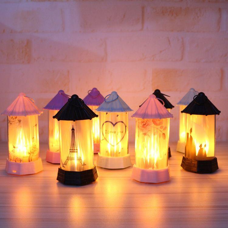 2019 neue LED Simulation Flamme Licht Nacht Innen Dekoration Party Lampe Halloween Geschenke Weihnachten Zimmer Konstellation lampe