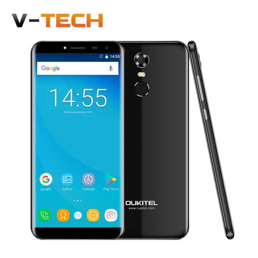 Hot Oukitel C8 5.5 <font><b>18:9</b></font> Infinity Display Android 7.0 MTK6580A Quad Core 2G RAM 16G ROM 13MP 3000mAh Fingerprint ID Smartphone