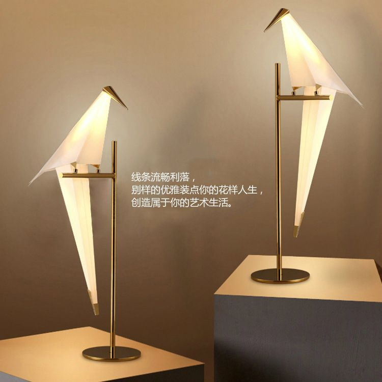 YOOK 22*72CM Modern Bird Acrylic Led Table Lamp Nordic for Living Room Bedroom Bird Art Table Lamp