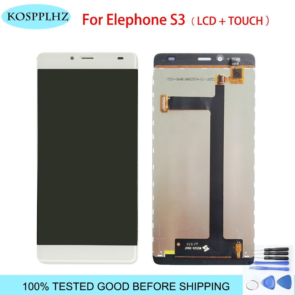 KOSPPLHZ original LCD Display +Digitizer Touch Screen Assembly For Elephone S3 Cellphone 5.2