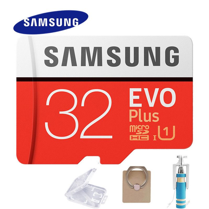 SAMSUNG Micro SD Card 32gb EVO Plus U3 Class10 64GB 128GB Waterproof TF Microsd Memory Sim Card 100MB Card 16gb For Smart Phones