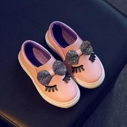Niños zapatos 2018 primavera moda Bowknot zapatos de niña Zapatillas lentejuelas princesa party con zapatos planos niños entrenadores para las niñas 90E